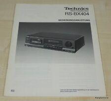 Technics RS-BX404 Bedienungsanleitung Deutsch
