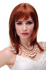 Perruque Femmes pour Rouge Auburn Lisse Longue Jusqu'aux Épaules Frange 50cm