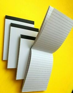 6 PADS A6 LINED PAPER BOTH SIDES WHITE PAPER JOTTER NOTE PAD MEMO NOTEBOOK