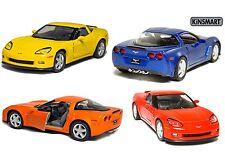 "5"" Kinsmart 2007 Chevrolet Corvette Z06 Diecast Model Toy Car 1:36 Chevy 4PC SET"