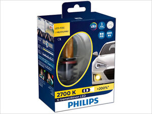 PHILIPS X-TREME ULTINON 2700K GOLDEN YELLOW H8 H11 LED FOG LIGHTS 12793UNIX2
