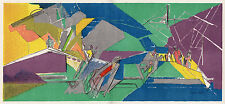 "WOW Jacques VILLON 1948 Limited Color Lithograph ""The Harvest"" SIGNED Framed COA"
