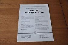Philips NG5154 Record Player Workshop Service Manual NG 5154