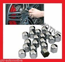 Set 20 COPRIBULLONI Auto Acciaio Cromato 17 mm - Accessori Cerchi in lega