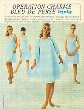 Publicité Advertising 1966  Lingerie LEJABY nuisette robe de nuit sous vetement