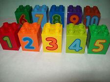 LEGO DUPLO 10558 10 Stück Motivsteine Zahlen Zahlen-Lernspiel Set 2 NEU