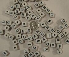 50 ALPHABET ABC BEADS BIRD PARROT TOY PARTS CRAFTS 1/2""