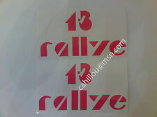 Peugeot 205 Rallye, Stickers Decals Custodes 1,3 RALLYE