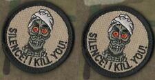 "TALIBAN WHACKER JSOC SEAL SAS JTF2 REAPER vel©®⚙ 2"" SSI: Cartoon Skull Tab X 2"