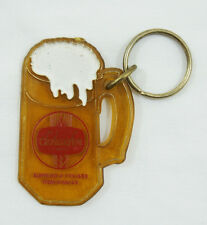 Vintage 1982 Schaefer Beer Red Keychain Key Chain Key Fob