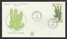 TAAF FRENCH ANTARCTIC 1986 LYCOPODIUM SAURURUS PLANT 1v FDC
