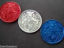 2015 Alla LAND OF THE FREE-HOME OF THE BRAVE RWB Aluminum MardiGras Doubloon Set