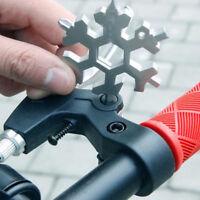 18-1 Snow Flake Flat Steel Shape Snowflake Multi Tool Cross Household Hand New