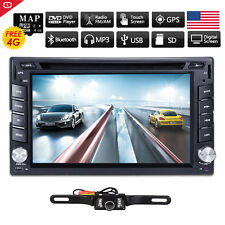 US Windows 2Din 6.2 Inch GPS Car DVD Player In-Dash Stereo Bluetooth iPod+Camera