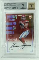 BGS 9/9 KEVIN HOGAN 2016 Contenders Playoff Ticket Rookie OC Auto #5/10 CHIEFS
