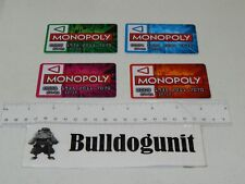 2012 Monopoly Zapped Edition Board Game Replacement Touch Bank Cards Only