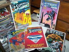 LOT 5 SUPERMAN MAN OF STEEL 1, 22, 30 DIE-CUT COVER & BONUS POSTER STEEL 1, 5