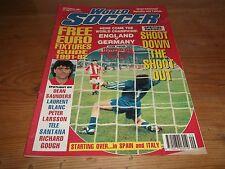 Football Magazine World Soccer September 1991 England V Germany Dean Saunders