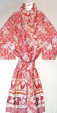 Bassetti Satin Kimono Jasmine V1 rot Gr L-XL Morgenmantel Baumwolle Mako Satin