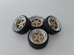 1:18 Scale OZ MITO 16 INCH TUNING WHEELS WITH SEVERAL COLOR OPTIONS, NEW!!