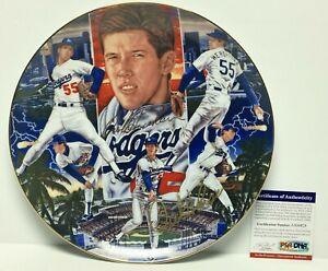 Orel Hershiser Signed Dodgers Sports Impressions Collectors Plate *WS MVP PSA
