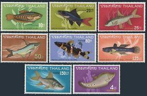 Thailand 501-508,lightly hinged.Michel 517-524. Fish,1968.