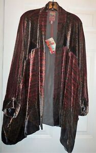 Johnny Was Women's Velvet Vista Kimono Jacket 2X NWT