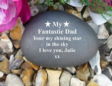 Personalised Pebble (Stone effect) Completely Weatherproof - Bespoke - Stars