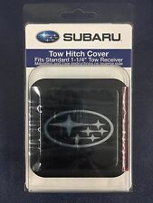 "GENUINE SUBARU LOGO TRAILER HITCH PLUG COVER 1 1/4"" FITS ALL MODELS SOA342L154"