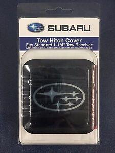 "GENUINE SUBARU LOGO TRAILER HITCH PLUG COVER 1 1/4"" FITS ALL MODELS SOA342L154"