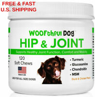 ORGANIC Dog Joint Hip Supplement Turmeric MSM glucosamine HELPS ARTHRITIS  (120)