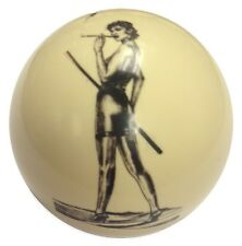 Pool/Billiards Smoking Pin-Up Girl with Cue - Cue Ball NEW!