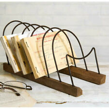 New Tabletop Letter Holder in rustic wood-metal