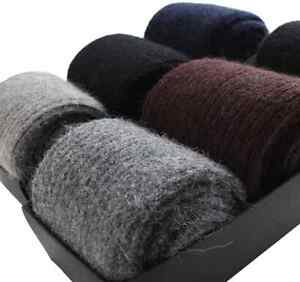 3  Pairs Pure Mongolia 100% Wool Cashmere Thick Socks Mens Warm & Comfortable AU