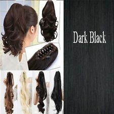 """Cheap Price Claw Clip On Pony Tail Ponytail Clip In Hair Extensions 18"""" 21"""" j52"""