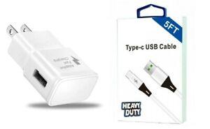 5 Feet USB-C, Fast Adaptive Wall, Car Kit Motorola Moto G Fast/G Power/G Stylus