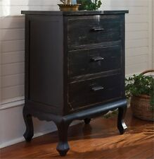 Distressed Black Cupboard, Dresser, Nightstand with 3 Drawers By Park Designs