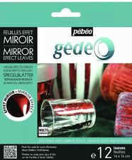 Pebeo Gedeo Mirror Effect Leaf 12 Sheet Pack - RED  Brand New!