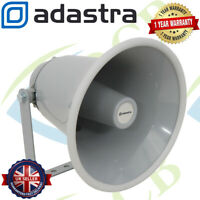 Adastra Low Impedance 8 Ohm Horn Loud Speaker 15W RMS Multi Purpose Grey PA