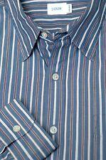 J Tripulante Pequeño Camisa Entallada Azul a Cuadros Algodón