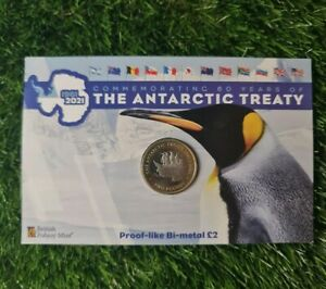 2021 Antarctic Treaty Bi-metallic Coin £2 British Territory