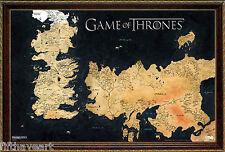 Game of Thrones  Map Framed