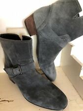 Jean-Michel Cazabat Ankle Boots Bootie PANDORA Leather Suede Gray 38 US 7.5 - 8