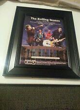 Rolling Stones Glendale Arena Rare Bigger Bang Tour 2005 Framed Promo Ad!