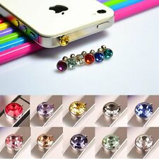Bling Crystal Dianond 3.5mm Anti Dust Plug Headphone Jack Cap For Mobile Phone