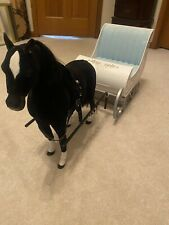 "Winter Sleigh w/Horse Bells 18"" American Girl Doll Christmas Enertec Enterprises"