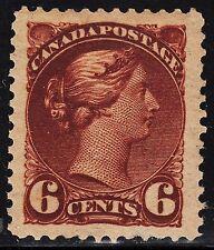 Canada 6c Small Queen, Scott 43i, XF MH JUMBO, catalogue - $350+
