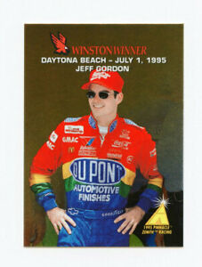 Jeff Gordon 1995 95 Zenith Winston Winners All Gold Foil Insert Card Pinnacle 15