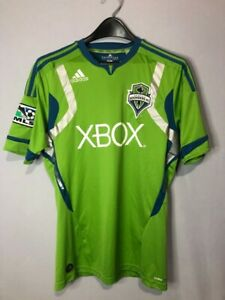 Adidas Seattle Sounders FC Climacool Athletic Soccer Jersey Size Small Green