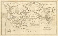 More details for 'carte de la rivière de gambra ou gambie…' gambia river. leach / bellin 1747 map